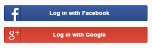Login with Facebook and Google