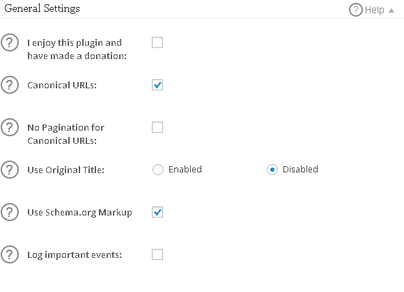 General Setting – PHPCluster