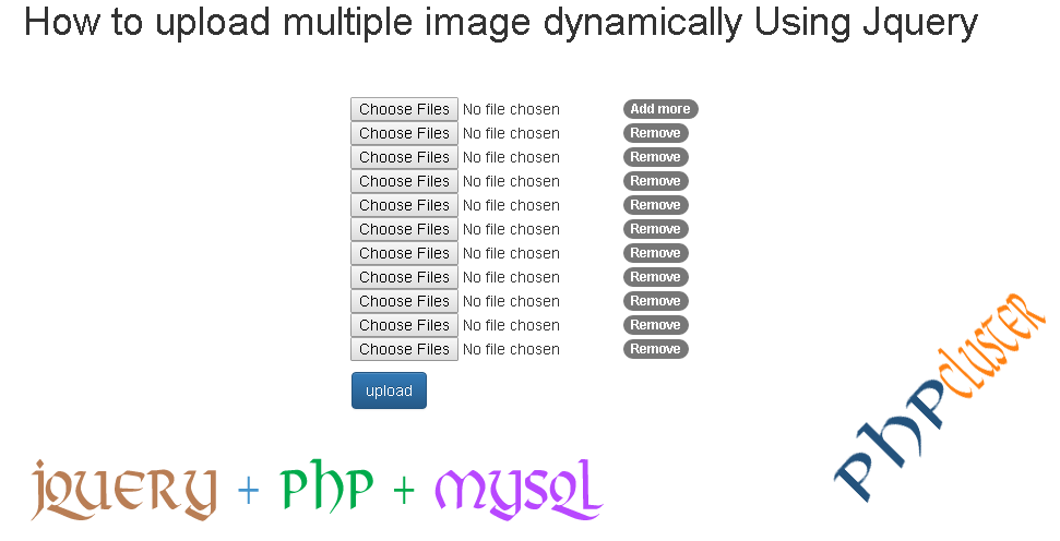 Multiple Image Uploading - PHPCluster