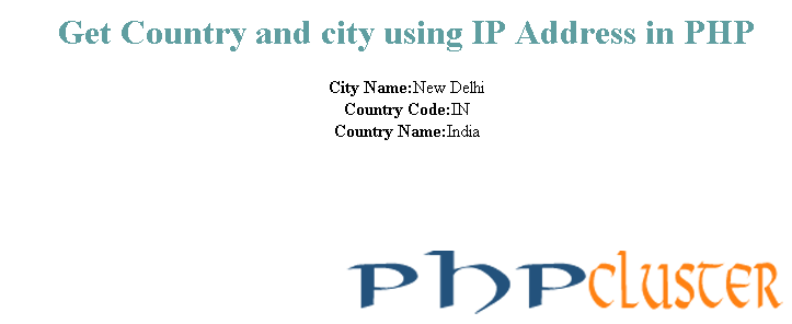 Get Country and City From IP - PHPCluster
