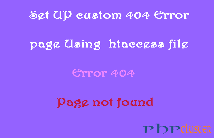 How to Set Up a Custom 404 Error Page Using htaccess