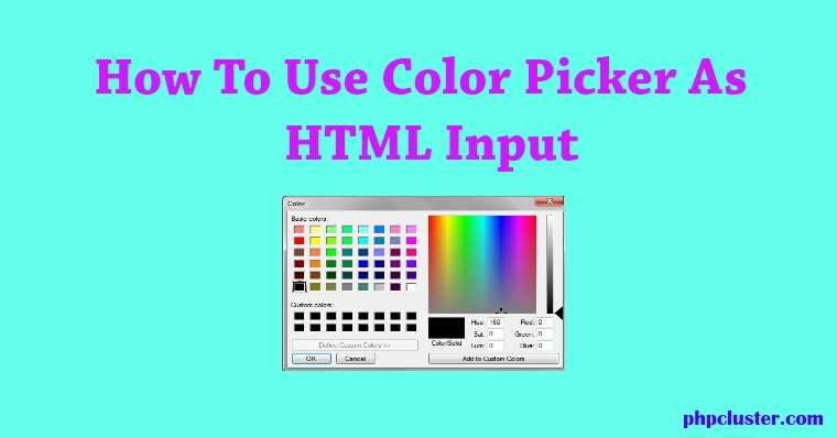 How To Use Color Picker As HTML Input